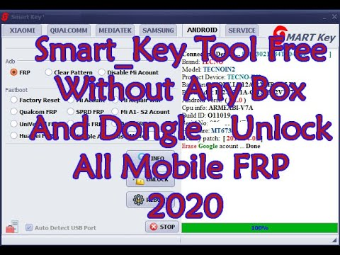 Smart_Key Tool Free Without Any Box And Dongle 100% Unlock All Mobile FRP