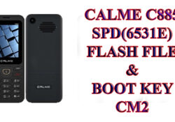Calme C885 Flash File Firmware With Boot Key