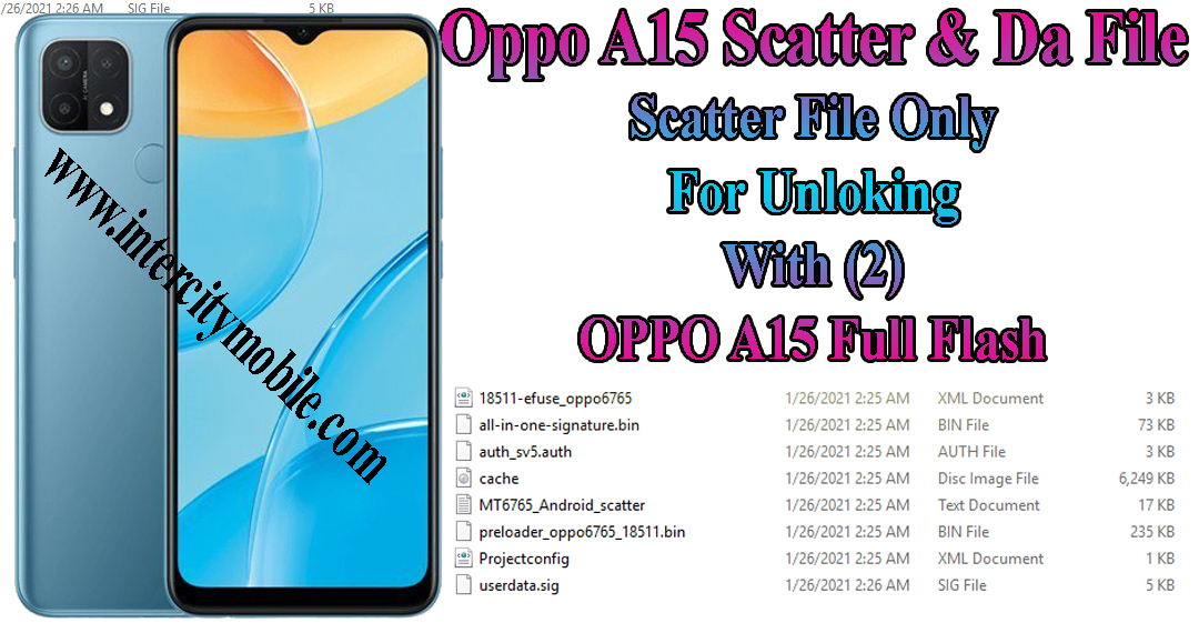 Oppo A15 Scatter File Only For Unlocking Use 2021
