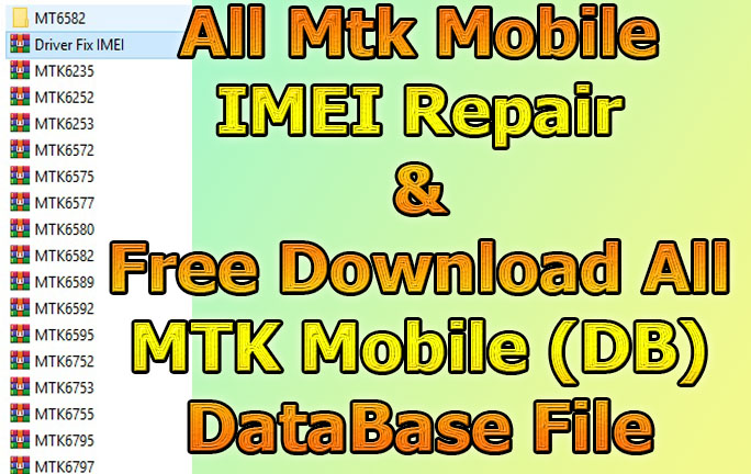 All MTK IMEI Repair NVRAM Database Files With Tool Free